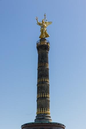 The column of victory in Berlin-Tiergarten with its Nike sculpture