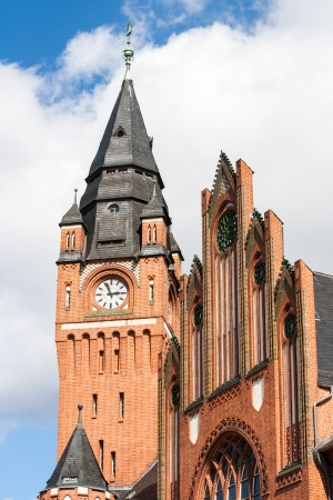 Old city hall built in neo-gothic style in the old town of Berlin-Köpenick