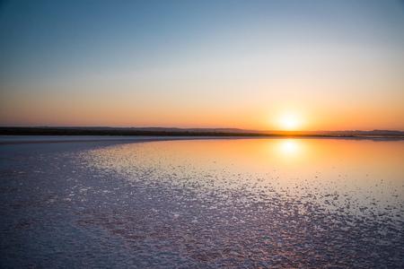 Salt pink Lake in Torrevieja, Spain