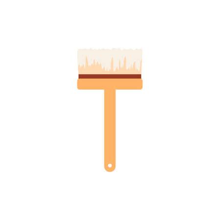 Paint brush or broom for archeological excavation vector illustration isolated. Vektoros illusztráció