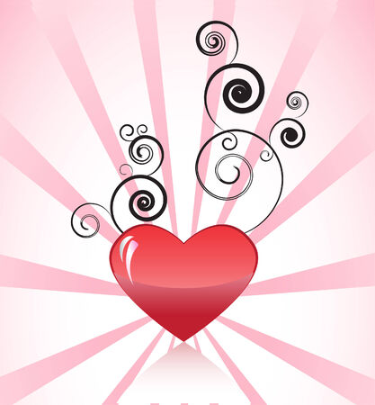 heart with design Vector