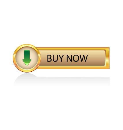 gold button withbuy now icon Stock Vector - 6486335