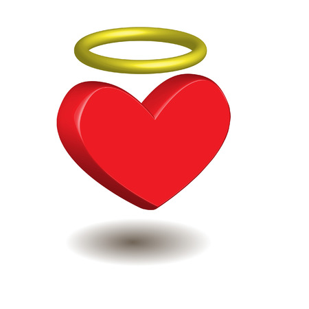 heart with aureola 版權商用圖片 - 6486344