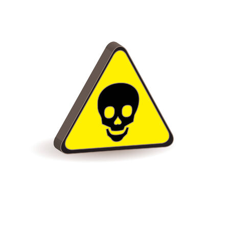 yellow triangle with poison sign Stock Vector - 6486332