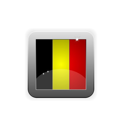 worldrn: glossy button with flag of belgium