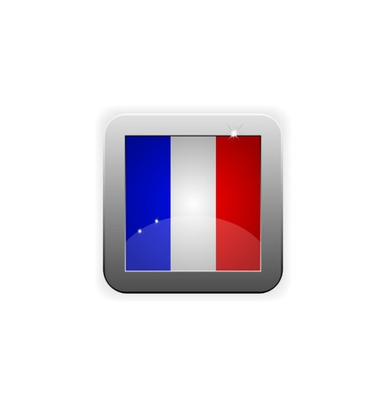 worldrn: glossy button with flag of france