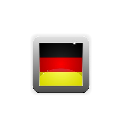 glossy button with flag of germany  Illustration
