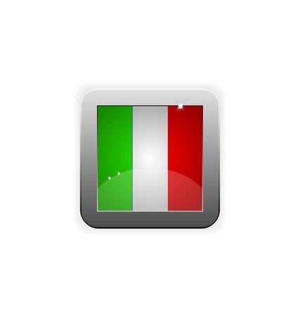 worldrn: glossy button with flag of italy Illustration