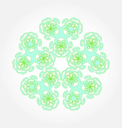 abstract background with oriental design  Vector