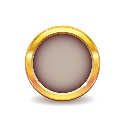 classic metal button  Stock Illustratie