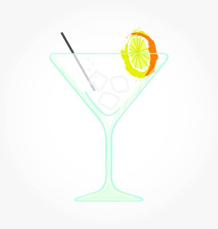 cocktail with lemon Stock Vector - 7796136