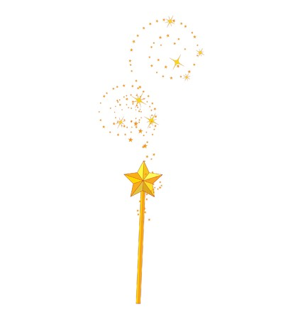 faerie: magic wand isolated on white background
