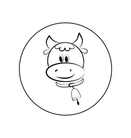 black cow icon Stock Vector - 7796100