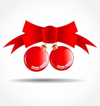 Red Christmas balls Stock Vector - 7903134