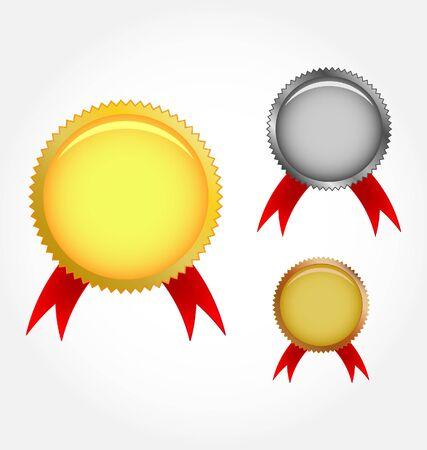 conquistando: Ilustraci�n de medalla  Vectores