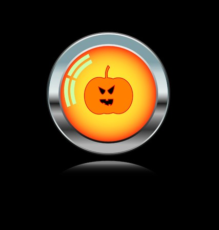 metal button with Halloween icon  Vector