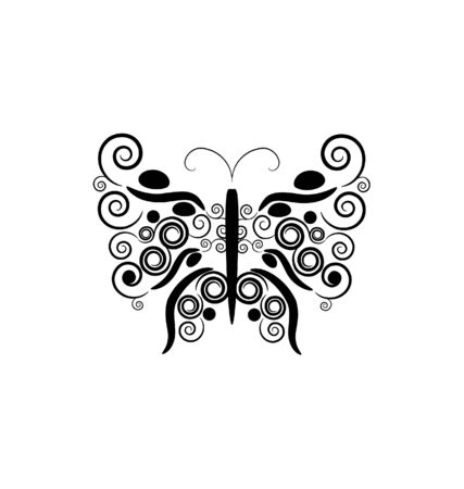 black butterfly Stock Vector - 7903157
