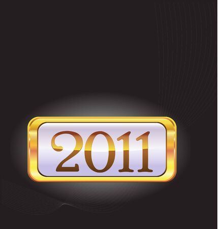 2011 happy new year template Stock Vector - 8157271