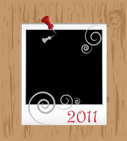 Christmas Framework in scrapbooking style  Vector