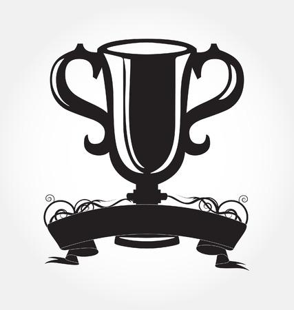 black cup of the winner