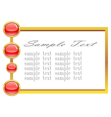 frame with glossy red buttons  Stock Vector - 8288394