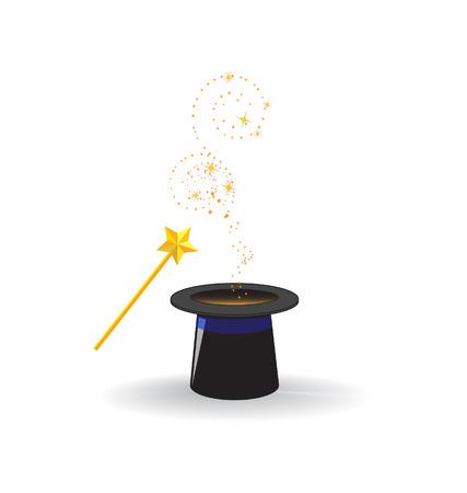 magic wand with magic hat