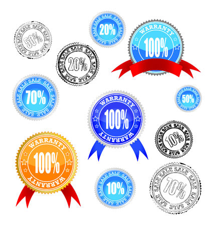 vector stickers-warranty and sale Stock Vector - 8288401