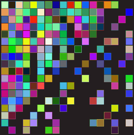 abstract background with color squares Vector