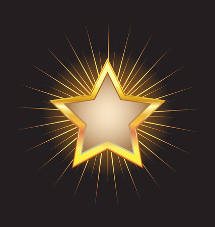 gold star frame with beams