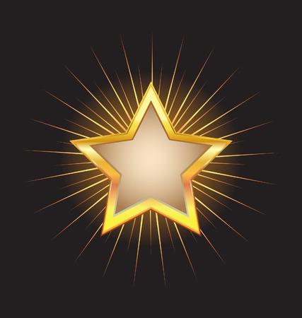 gouden ster: Gouden sterren frame met balken