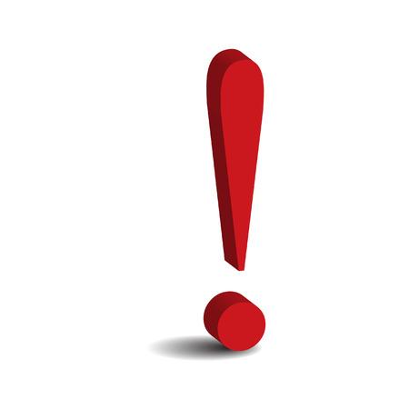 exclamation: signo de exclamaci�n rojo  Vectores