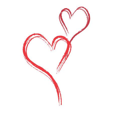 red chalk hearts  Stock Illustratie