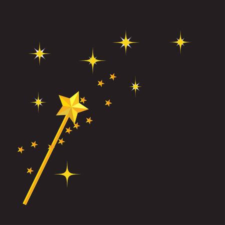 fee zauberstab: Zauberstab mit schwarzem Hintergrund