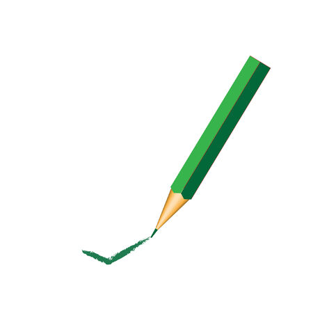 green pencil with ok sign  Stock Vector - 8369986
