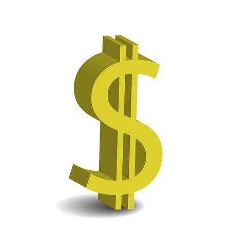 dollar 3D icon Stock Vector - 8369973
