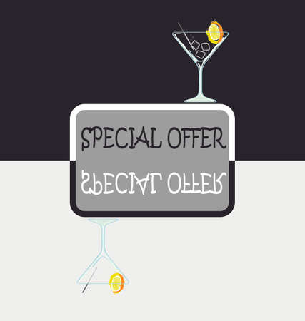 special offer -cocktail with lemon Stock Vector - 8398502