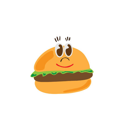 burger character Vector