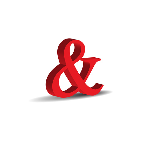 red 3D and sign Stock Vector - 8535465