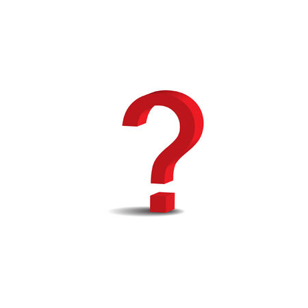 red 3D question mark Stock Vector - 8535461