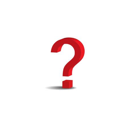 whose: rosso 3D punto interrogativo