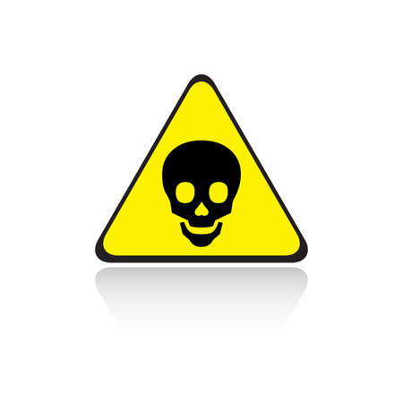 poison yellow sign Stock Vector - 8535463