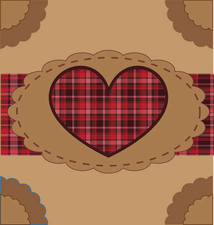 card with heart  Vector