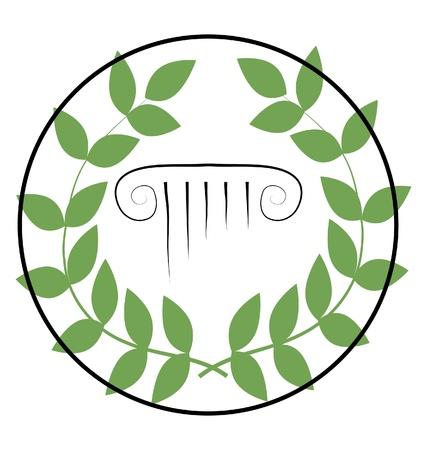 columna corintia: icono con s�mbolos griegos