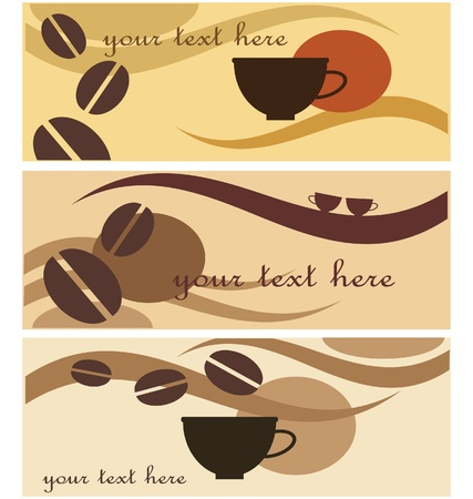 background wih coffee icon