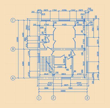 bilding: Plan Of House Illustration