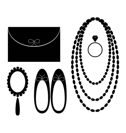 accesories  for women 向量圖像