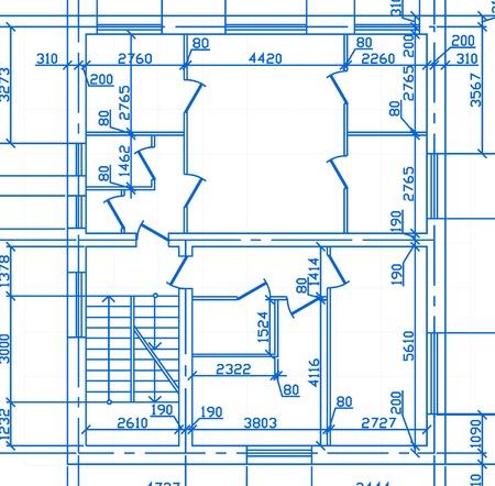 plan maison: arri�re-plan avec le plan de la grande maison