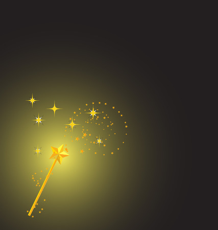background with magic wand image  Illustration