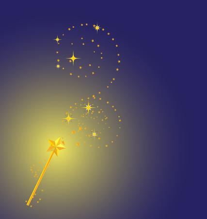background with magic wand image  Stock Illustratie