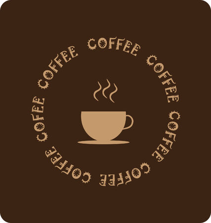 coffeecup: background with icon of coffee cup